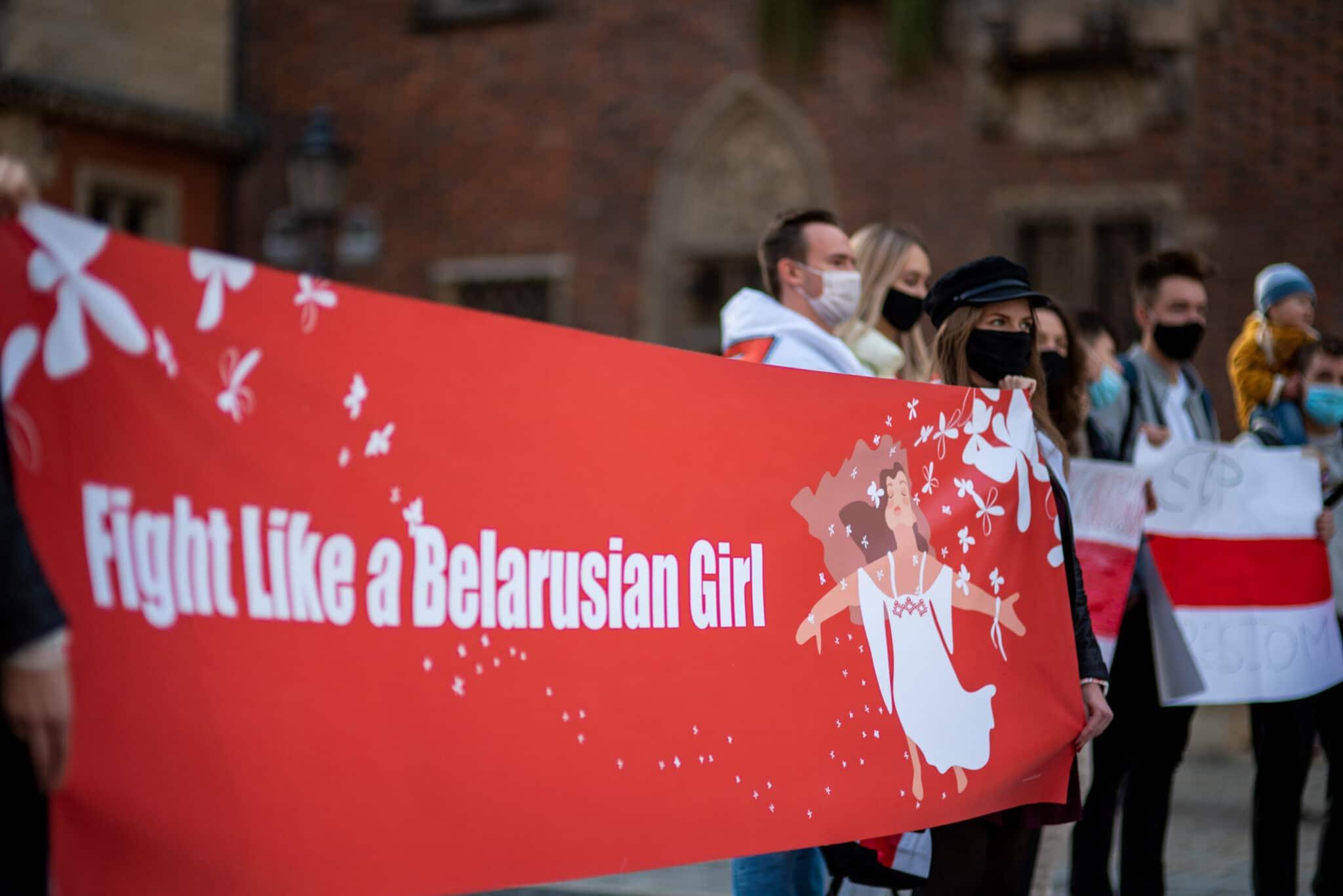 Protest Białorusinów we Wrocławiu