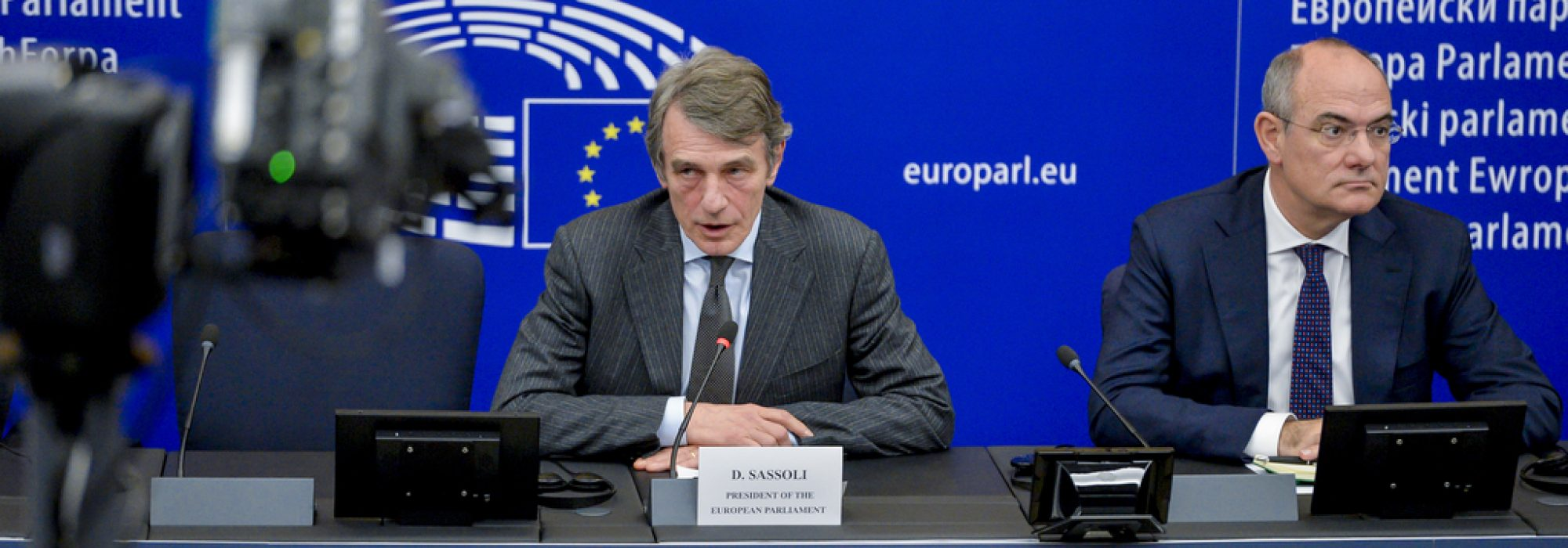 EP Press conference on the Multiannual Financial Framework 2021-2027 with David SASSOLI, EP President