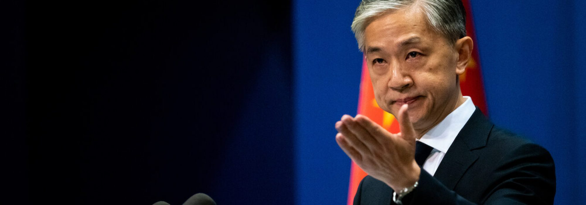 BEIJING, CHINA - JULY 20, 2020: China's new Foreign Ministry spokesperson Wang Wenbin gives a press conference. Artyom Ivanov/TASS,Image: 545245452, License: Rights-managed, Restrictions: , Model Release: no, Credit line: Artyom Ivanov / TASS / Forum